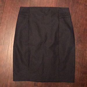 Size 4 Pinstriped Mini Pencil Skirt - Navy Blue